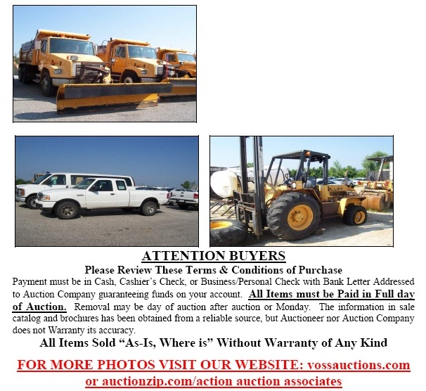 County Surplus Fleet Vehicles And Equipment Auction